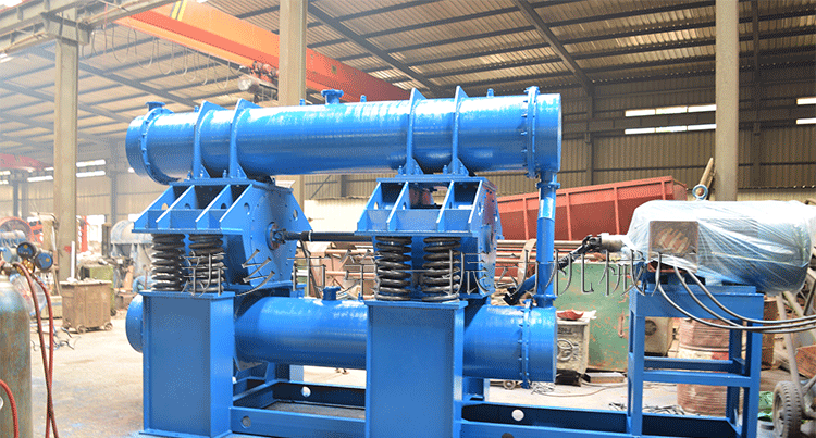 Working principle of continuous feeding horizontal double drum vibration mill